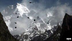 Один из участков горной системы Каракорум