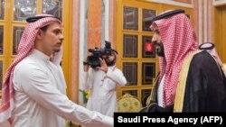 Встреча сына Джамаля Хашогги с наследным принцем Саудовской Аравии Мухаммедом бин Салманом (архивное фото)