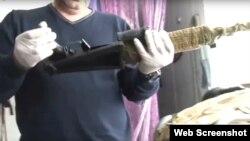 Скріншот № 1 з відео обшуку ФСБ у Дмитра Штиблікова