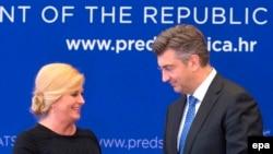 Kolinda Grabar Kitarović i Andrej Plenković