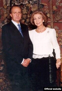 خوان کارلوس در کنار ملکه سوفیا