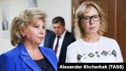 Тетяна Москалькова (зліва) та Людмила Денісова