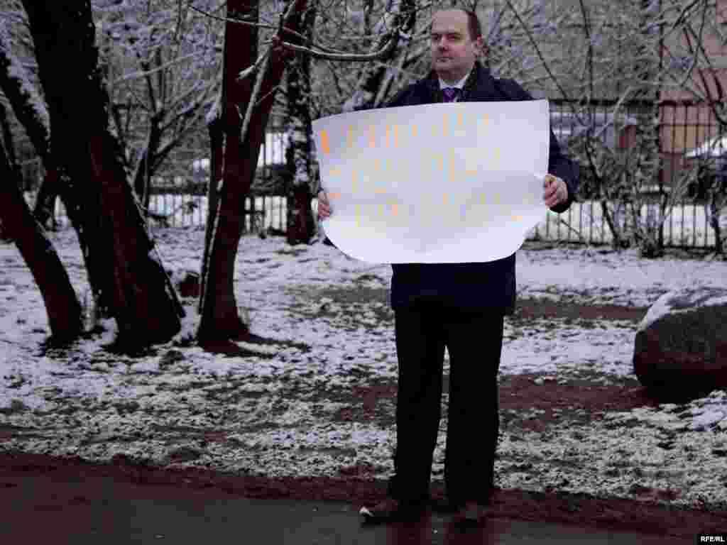 Finally, Sergei Zhavoronkov began his own protest...