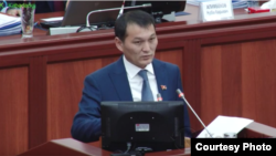 Депутат парламента Кыргызстана Жыргалбек Саматов.
