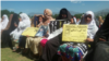 FILE: Family members of victims of enforced disappearances at a Pashtun Tahafuz Movement protest in Swat Pakistan in April 2018.