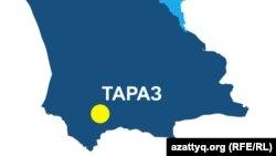 Карта Жамбылской области Казахстана.