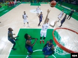 Nikola Jokic of Serbia at the 2016 Rio Olympics