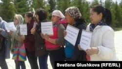Акция протеста против изъятия земельных участков. Астана, 23 мая 2014 года.