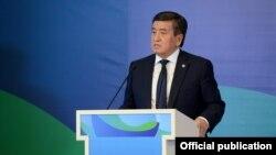 Сооронбай Жээнбеков «Аймактар үчүн таза суу» форумунда. Бишкек, Кыргызстан. 23-май, 2019-жыл.