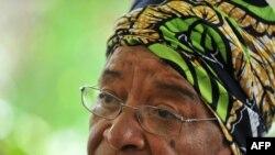 Президент Либерии Эллен Джонсон-Сирлиф