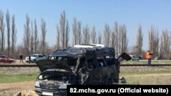 ДТП на железнодорожном переезде под Армянском. 8 апреля 2018 года