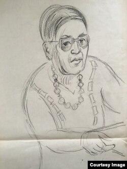 Людмила Кузнецова. Автопортрет