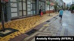 Дождь в Симферополе, архивное фото