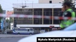 Захваченный в Луцке автобус, 21 июля 2020 года