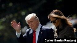 Presidenti i SHBA-së, Donald Trump dhe Zonja e Parë, Melania Trump. Foto nga arkivi