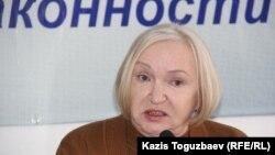 """Тамара Калеева, """"Әділ сөз"""" сөз бостандығын қорғау ұйымының жетекшісі."""