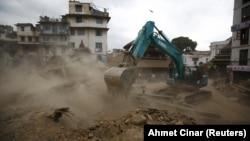 Pamje nga shkatërrimet në Nepal