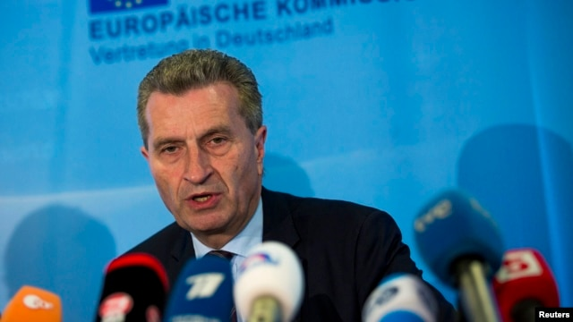 European Energy Commissioner Guenther Oettinger says talks will continue after seven hours of negotiations in Brussels.