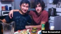 Dias Kadyrbayev (left) with Dzhokhar Tsarnaev