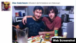 """Скриншот страницы Диаса Кадырбаева в социальной сети """"ВКонтакте""""."""