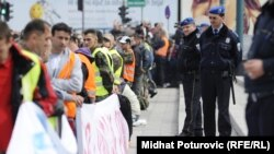 Protest penzionisanih boraca, Sarajevo, mart 2012.