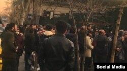 Amir Kabir Universiteti qarşısında etiraz aksiyası,Tehran