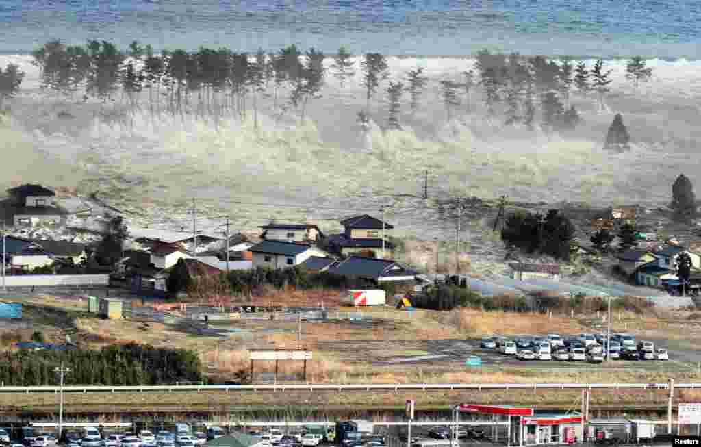 Высота волны, порожденной самым мощным за 140 лет землетрясением в Японии, достигала 10 метров