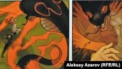 Рисунки к мультфильму «Ер Тостик и Айдахар».