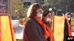 مظاهرة للاحتفال باليوم الدولي للقضاء على العنف ضد المرأة في السليمانية