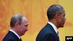 Владимир Путин и Барак Обама на саммите АТЭС в Пекине в ноябре 2014 года