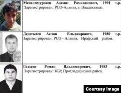 Разыскиваемые выходцы из Северной Осетии