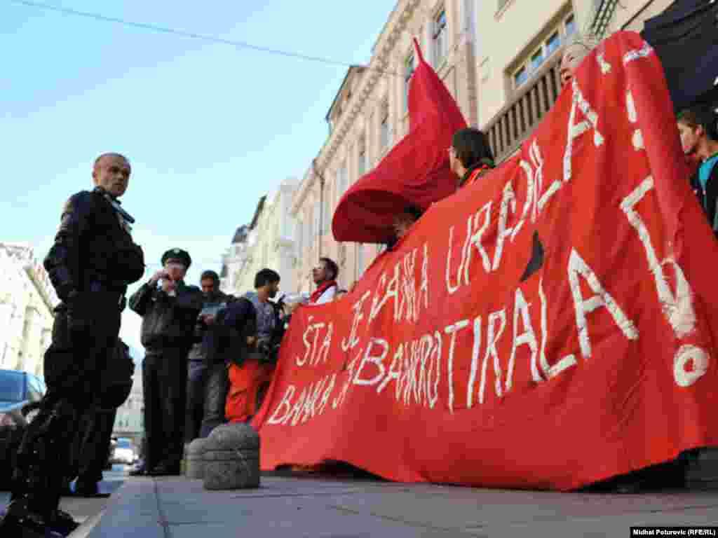 Protesti protiv neoliberalnog kapitalizma, Sarajevo, 15. oktobar 2011