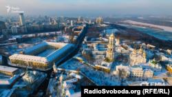 «Мистецький Арсенал» та Києво-Печерська лавра, Київ. Вид з висоти пташиного польоту