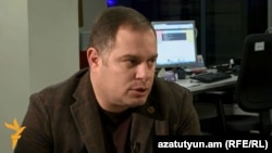 Armenia - Hovhannes Sahakian, a leading member of the ruling Republican Party, at Azatutyun TV's Yerevan studio, 14Jan2014