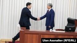 Абдиль Сегизбаев и Алмазбек Атамбаев, 28 апреля 2016 г.