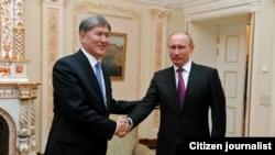 Алмазбек Атамбаев менен орус президенти В. Путин.