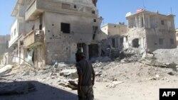 Сириядағы қираған қала. (Көрнекі сурет)