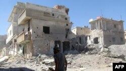 Suriya paytaxtı bombardımandan sonra