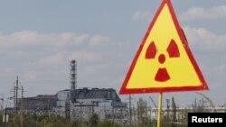 Саркофаг над аварийным энергоблоком Чернобыльской АЭС