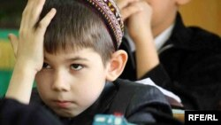 Mekdep okuwçysy. Türkmenistan
