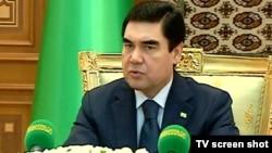 Түркіменстан президенті Гурбангулы Бердімұхамедов. Ашғабат, 7 қазан 2011 жыл