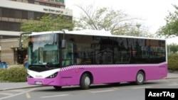 Bakıda marşrut avtobusu