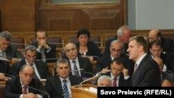 Igor Lukšić u Skupštini Crne Gore, 10. maj 2011.