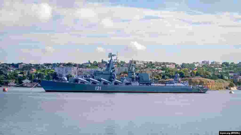 Гвардійський ракетний крейсер «Москва» зараз не на ходу. Після параду корабель поставлять на ремонт у 13-й судноремонтний завод