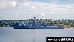 Російський військовий корабель у Севастополі