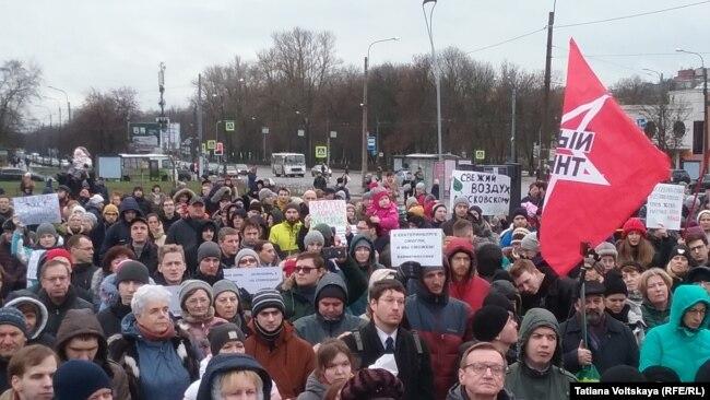 Митинг противников сноса СКК. Петербург, 2 февраля 2020