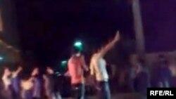 اعتراضات شبانه در یکی از خیابان های تهران