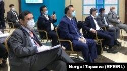 Қазақстан парламенті сенаты сайлауын бақылаушылар. Нұр-Сұлтан, 12 тамыз 2020 жыл.