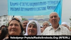 Ukraine -- Mourning rally to the 69 anniversary of the deportation of the Crimean Tatars, Simferopol, 18May2013