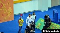 Абдурахманхаджи Муртазалиев на Азиатских играх в Ашгабате. 18 сентября 2017 года.
